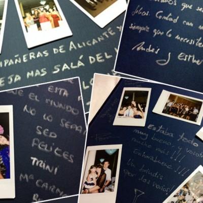 álbum firmas polaroid para bodas