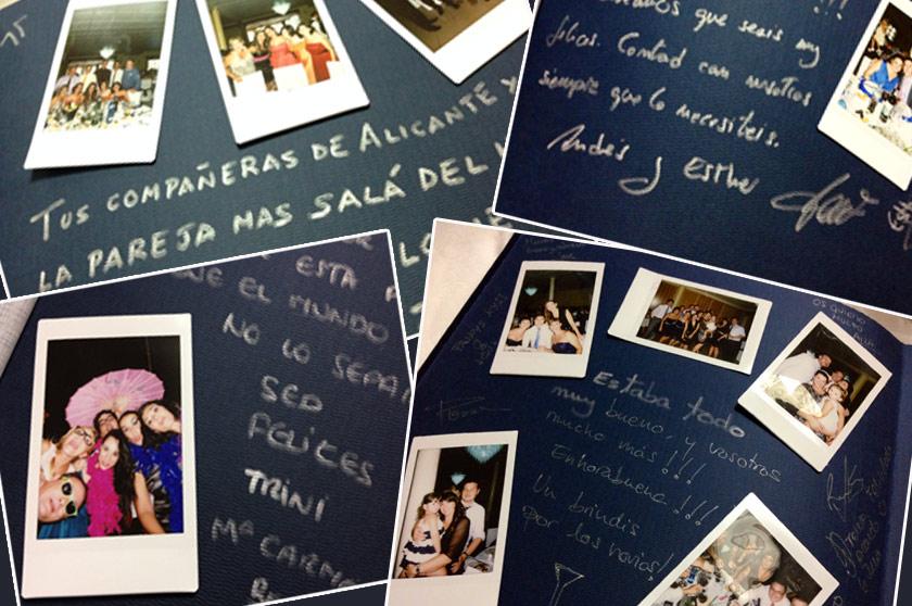 Álbum de firmas Polaroid: la Instax Mini en tu boda