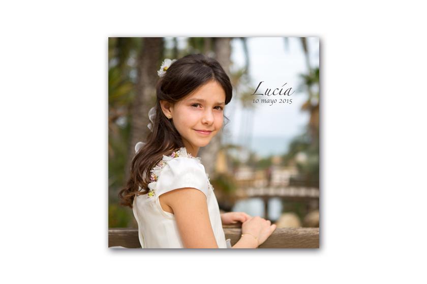 portada álbum de comunión