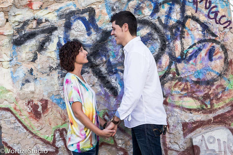 foto novios graffity